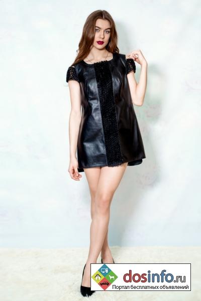 Дизайнерское платье из натуральной кожи всего за 12000 руб